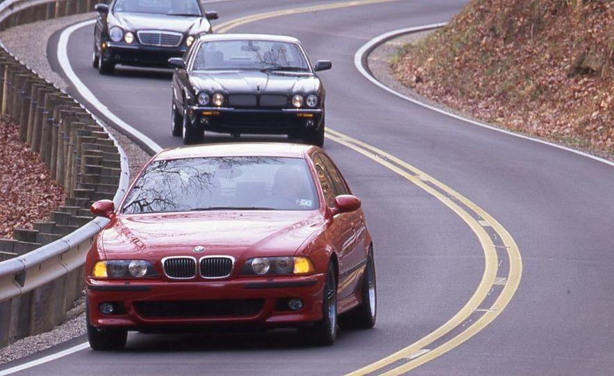 2000 Mercedes-Benz E55 AMG, BMW M5, and Jaguar XJR - Slide 2