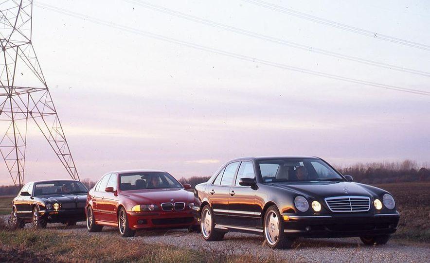 2000 Mercedes-Benz E55 AMG, BMW M5, and Jaguar XJR - Slide 3