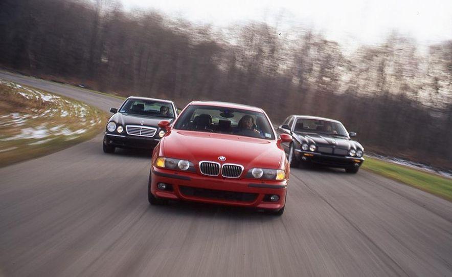 2000 Mercedes-Benz E55 AMG, BMW M5, and Jaguar XJR - Slide 1
