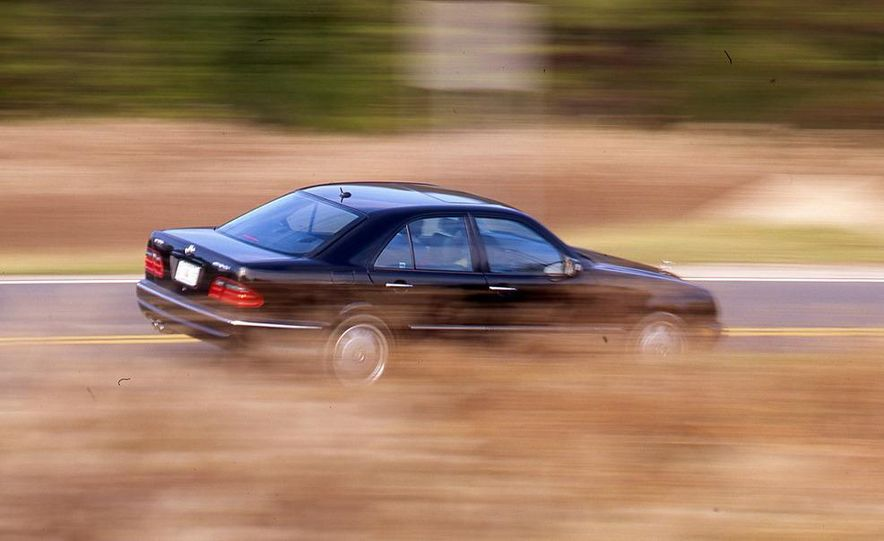 2000 Mercedes-Benz E55 AMG, BMW M5, and Jaguar XJR - Slide 8