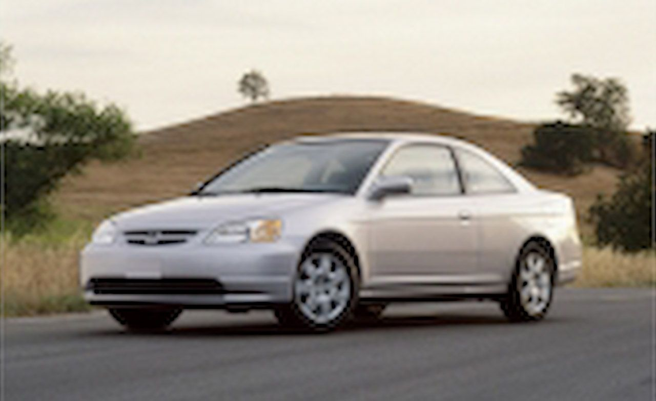honda civic ex coupe instrumented test reviews car and driver rh caranddriver com manual de honda civic 2002 lx en español manual honda civic 2002
