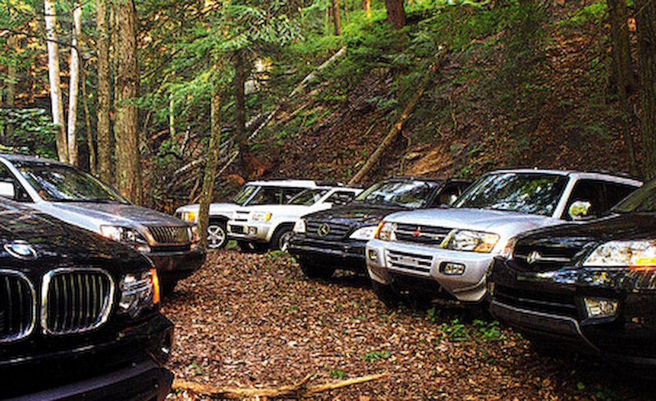 Acura MDX vs. BMW X5, Infiniti QX4, Land Rover Discovery, Lexus RX300, M-B ML320, Mitsubishi Montero