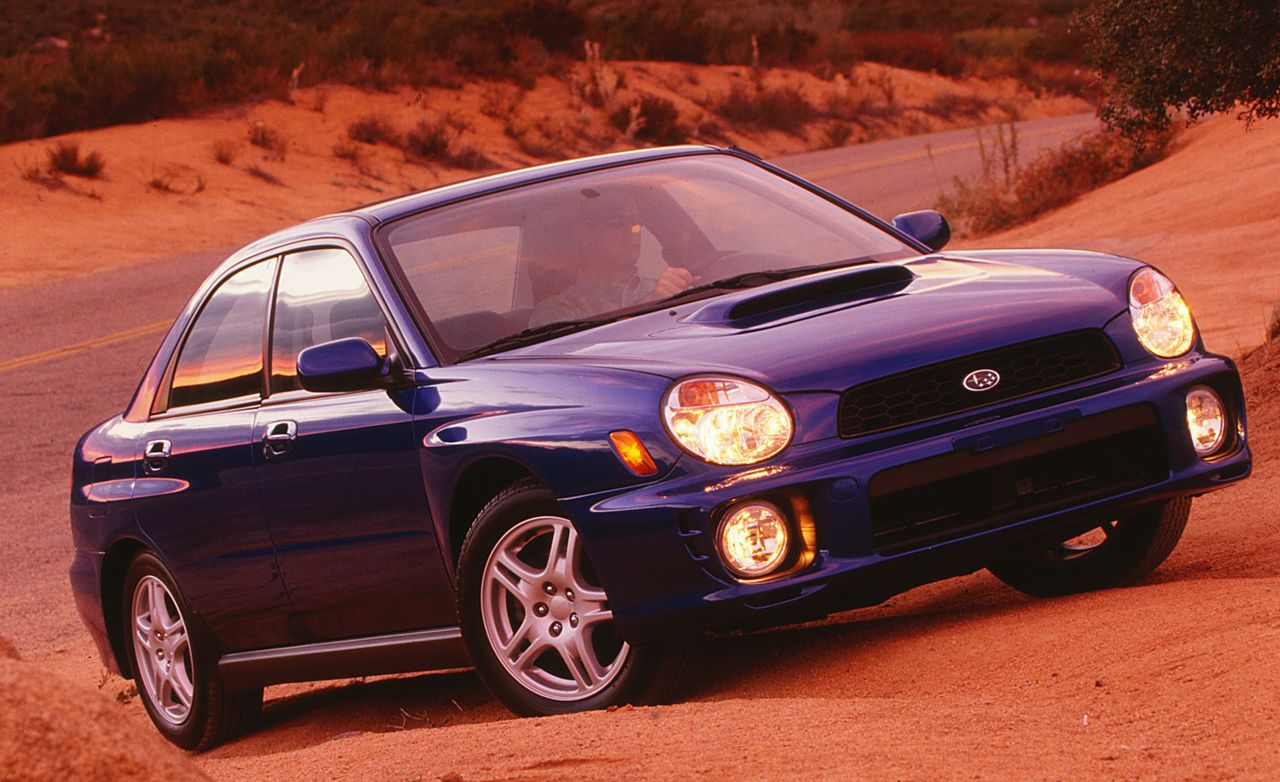 2002 subaru impreza wrx road test review car and driver. Black Bedroom Furniture Sets. Home Design Ideas