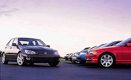 Lexus IS300 vs. BMW 325i, Audi A4, Volvo S60, M-B C240, Saab 9-3