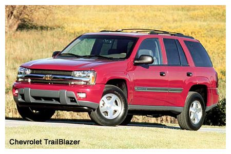 2002 Chevrolet TrailBlazer, GMC Envoy, Oldsmobile Bravada