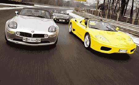 Aston Martin DB7 vs. BMW Z8, Ferrari 360 Spider