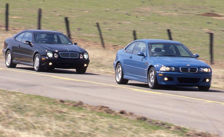 BMW M3 vs. M-B CLK55 AMG