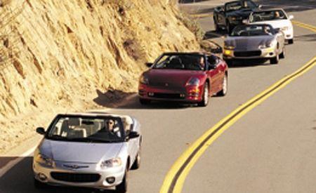 Chevy Camaro vs.Chrysler Sebring, Ford Mustang, Mitsubishi Eclipse, Toyota Camry Solara