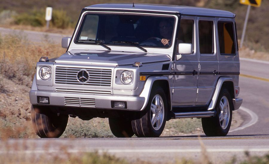 2002 mercedes benz g500 road test review car and driver. Black Bedroom Furniture Sets. Home Design Ideas