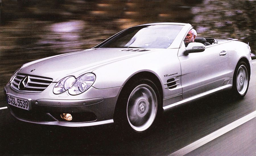 2003 mercedes benz sl55 amg first drive review car and driver. Black Bedroom Furniture Sets. Home Design Ideas