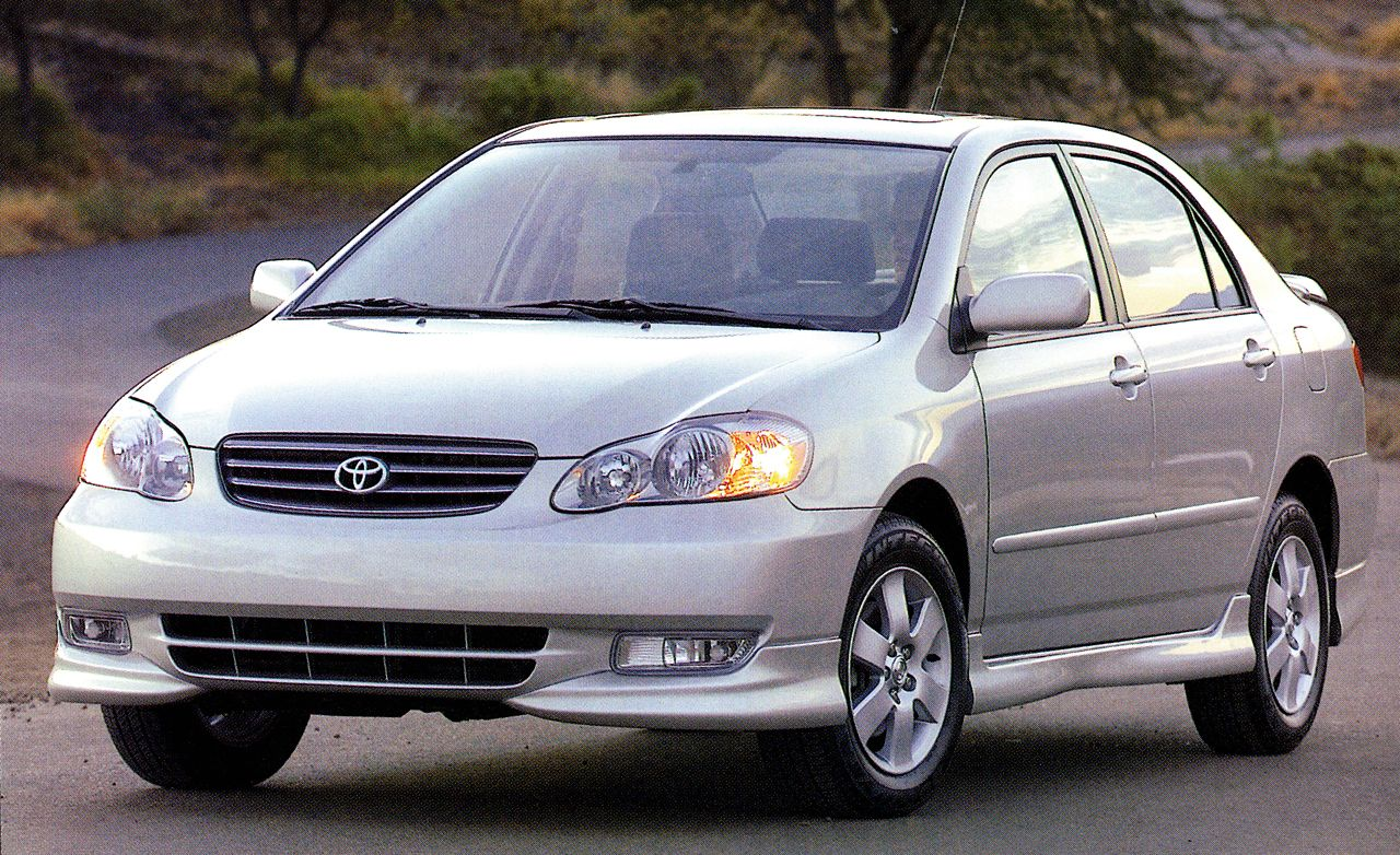 2003 toyota corolla road test review car and driver rh caranddriver com toyota corolla carmax toyota corolla cargo mat