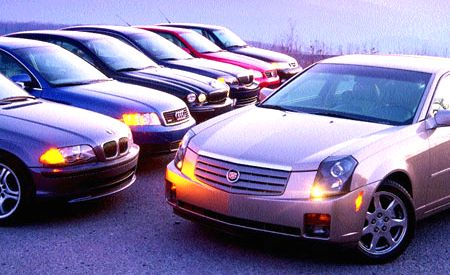 Audi A4 vs. BMW 330i, Cadillac CTS, Jaguar X-Type, Lexus IS300, Lincoln LS, Saab 9-3