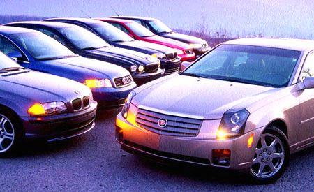 Audi A4 vs. BMW 330i, Cadillac CTS, Jaguar X-Type, Lexus IS300, Lincoln LS, Saab 9-3