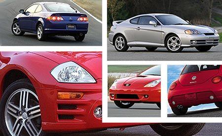 Acura RSX Type-S vs. VW New Beetle Turbo S, Hyundai Tiburon GT V-6, Toyota Celica GT-S, Mitsubishi Eclipse GTS