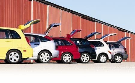 Chrysler PT Cruiser vs. Ford Focus, Pontiac Vibe, Mazda Protegé5, Suzuki Aerio, Toyota Matrix