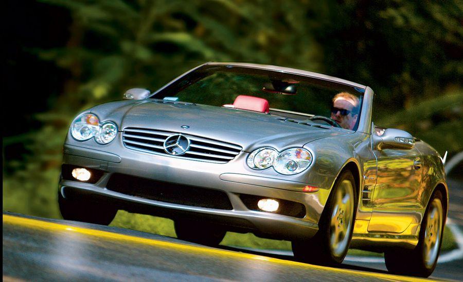 Mercedes benz sl55 amg road test reviews car and driver mercedes benz sl55 amg sciox Choice Image