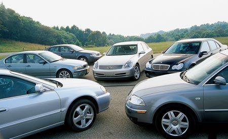 2002 VW Passat vs. M-B C320, Infiniti G35, Acura 3.2TL, Audi A4, BMW 330i
