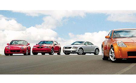 2003 Audi TT 1.8T Quattro vs. Ford Mustang Mach 1, Honda S2000, Nissan 350Z