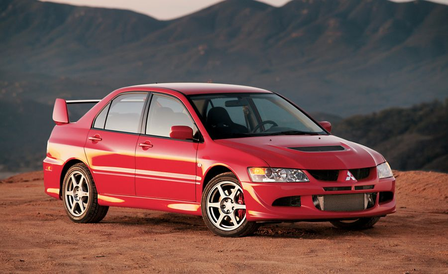 2003 mitsubishi lancer evolution road test review car and driver. Black Bedroom Furniture Sets. Home Design Ideas