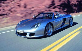 Porsche Carrera GT, 911 GT3 and Nissan 350Z Convertible