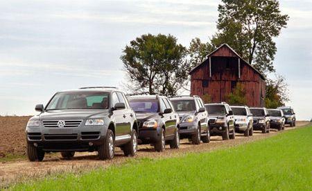 2003 GMC Envoy vs. Land Rover Discovery, Lincoln Aviator, Volvo XC90, BMW X5, Acura MDX, Lexus GX470, VW Touareg