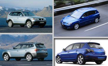 """BMW, Mazda Unveil New """"3""""s"""