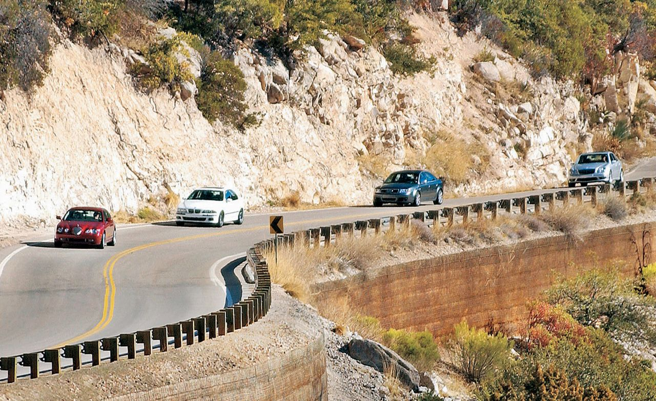 2003 Audi RS 6 vs. BMW M5, Jaguar S-type R, M-B E55 AMG