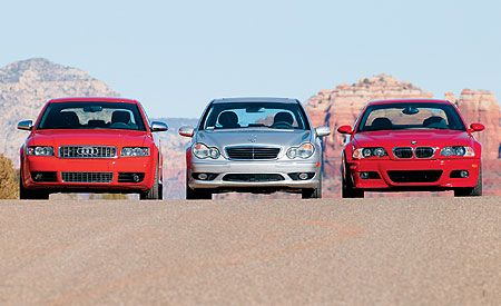 2003 Audi S4 vs. BMW M3, M-B C32 AMG