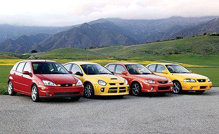 2003 Dodge Neon SRT-4 vs. Ford SVT Focus, Mazdaspeed Protegé, Nissan Sentra SE-R Spec V