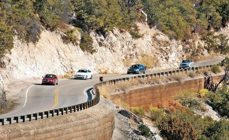 2003 Jaguar S-type R, BMW M5, Audi RS6, and Mercedes-Benz E55 AMG - Slide 1
