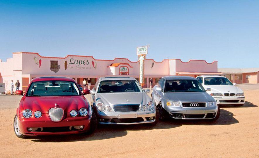 2003 Jaguar S-type R, BMW M5, Audi RS6, and Mercedes-Benz E55 AMG - Slide 2