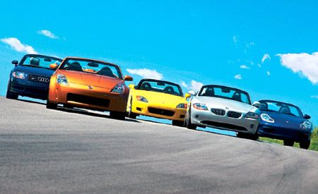 2003 Audi TT vs.BMW Z4, Honda S2000, Nissan 350Z, Porsche Boxster