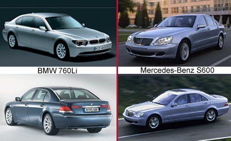 2003 BMW 760Li vs. M-B S600
