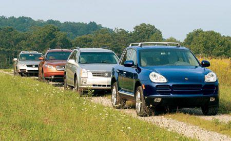 2004 Cadillac SRX vs. Infiniti FX45, Porsche Cayenne, VW Touareg