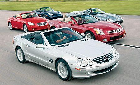 2004 Cadillac XLR vs.Jaguar XK8, Lexus SC430, M-B SL500, Porsche 911 Carrera 4 Cabriolet