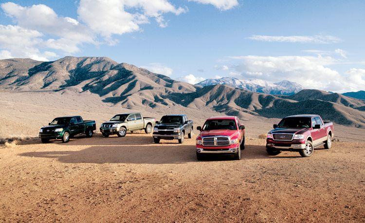 2004 Chevy Silverado vs. Dodge Ram, Ford F-150, Nissan Titan, Toyota Tundra