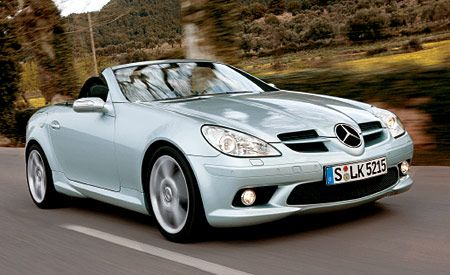 2005 mercedes benz slk350 and slk55 amg. Black Bedroom Furniture Sets. Home Design Ideas