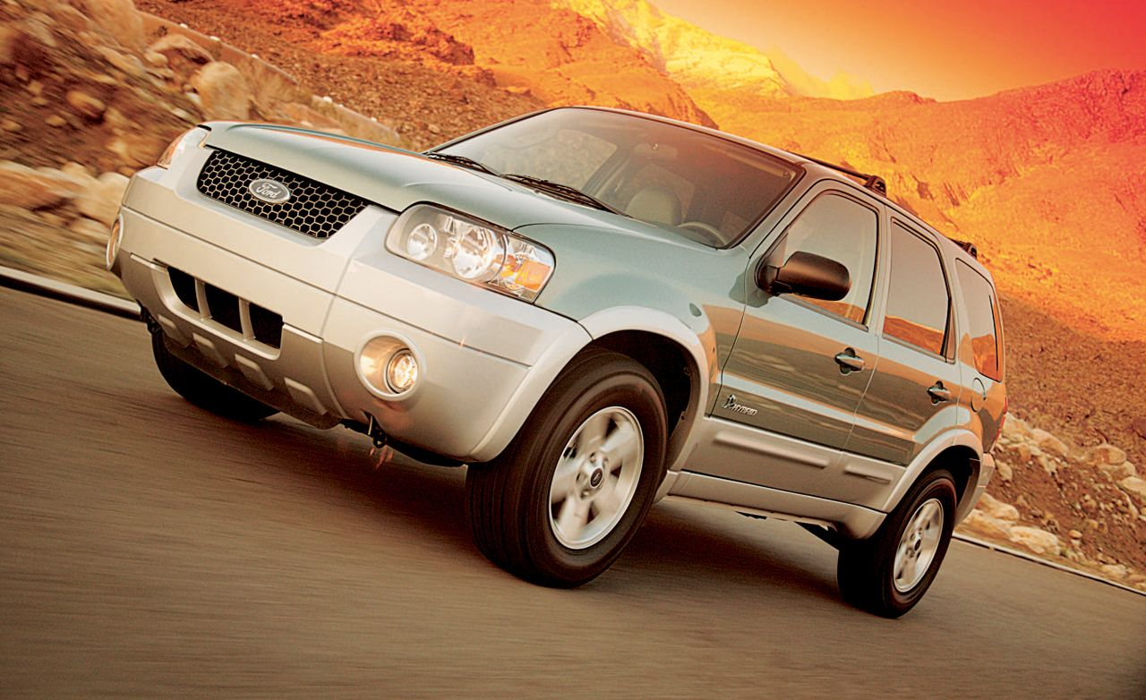 2005 ford escape hybrid road test review car and driver