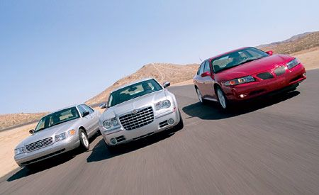 2004 Chrysler 300 Vs Ford Crown Victoria Pontiac Bonneville