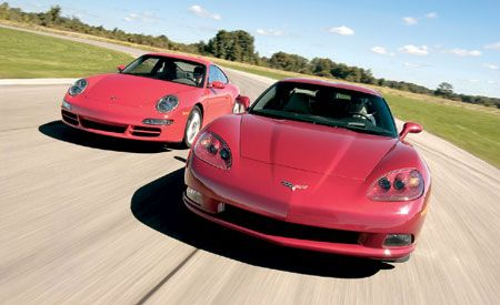 2005 Chevrolet Corvette Z51 vs. Porsche 911 Carrera