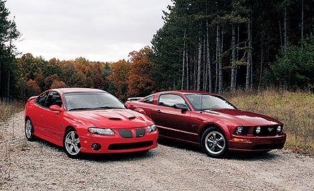 2005 Pontiac GTO vs. 2005 Ford Mustang GT