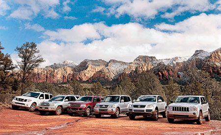 2005 Ford Explorer vs. Jeep Grand Cherokee, Mitsubishi Montero, Nissan Pathfinder, Toyota 4Runner, VW Touareg