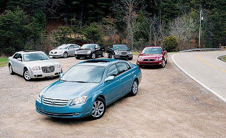 2005 Buick Lacrosse vs. Chrysler 300, Ford Five Hundred, Kia Amanti, Nissan Maxima, Toyota Avalon