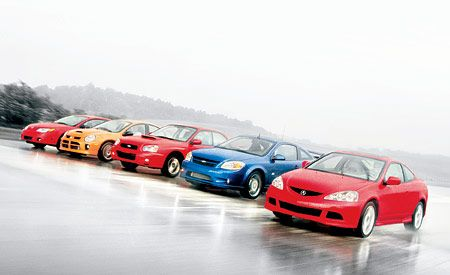 Acura RSX Type-S vs. Chevy Cobalt SS Supercharged, Dodge SRT4 ACR, Saturn Ion Red Line, Subaru Impreza WRX