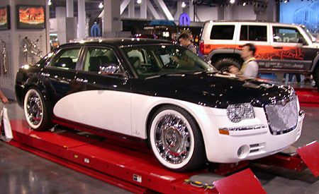 chrysler 300c with santini paint job. Black Bedroom Furniture Sets. Home Design Ideas