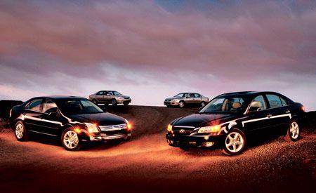 2006 Ford Fusion, vs. Honda Accord, Hyundai Sonata, Toyota Camry