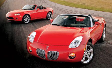 2006 Mazda Mx 5 Miata Vs Pontiac Solstice