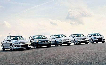 2006 Acura TSX vs. Honda Accord, Mazdaspeed 6, Pontiac G6, VW Jetta