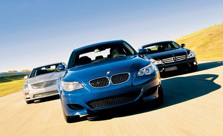 2006 BMW M5 vs. Cadillac STS-V, M-B CLS55 AMG