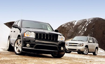 2006 Jeep Grand Cherokee SRT8 vs Chevrolet TrailBlazer SS